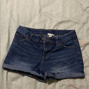 Cherokee darker wash jean shorts.